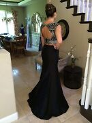640 Nwt Black Two Piece Jovani Prom/pageant/formal Dress/gown 25621 Size 4