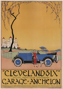 Cleveland Six 1925 Vintage Automobile Advertising Poster Canvas Print 24x32 In.