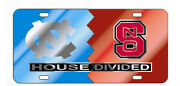 Unc / Nc State Mirrored House Divided License Plate / Car Tag