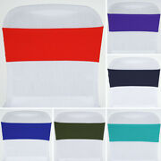 100 Spandex Stretchable Chair Sashes Ties Wraps Wedding Party Decorations Sale