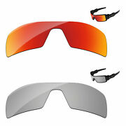 Papaviva Silver Chrome And Fire Olarized Replacement Lenses For- Oil Rig