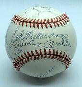 500 Hr Home Run Jsa Baseball Mickey Mantle Ted Williams Willie Mays 11 Auto Mint