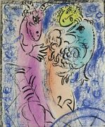 Marc Chagall Russian/french 1887-1985 Original Color Lithograph The Trap