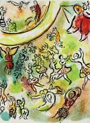Marc Chagall Russian/french 1887-1985 Lithograph The Ceiling Of Paris Opera