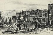 James Mcneil Whitstler American 1834-1903 Etching Drypoint Thames Police
