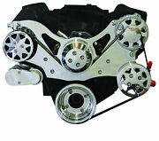 Billet Serpentine Front Drive System - 351 Ford Cleveland - Polished -w/a/c And Ps