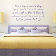 Angels Watch Me Through The Night Vinyl Wall Decal Quote Nursery/bedroom L193