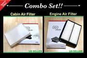 Combo Set Engineandcabin Air Filter For 15-19 Hyundai Sonata 2.4l Engine Only