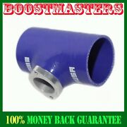 For Acura Bmw Toyota Mitsubishi 2.5blue Silicone Adapter W/ Type S Bov Flange