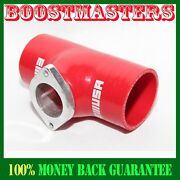 For Acura Bmw Toyota Mitsubishi 2.5 Red Silicone Adapter W/ Type S Bov Flange