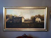 Oil Painting The Farm Houses By Jorge Braun Andres Tarallo