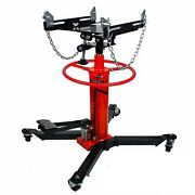 1660lbs 0.75ton Transmission Jack 2 Stage Hydraulic W/ 360anddeg For Car Auto Lift