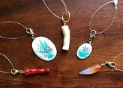 Anthropologie Jewelry Coral Pendant Flower Red Agate Tusk Charm Pendant Necklace