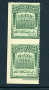 16t28a Western Union Telegraph Stamp Imperf Between Error Vertical Pair By134