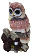 15 Solar Power Owl Decoy Scarecrow Motion-activated Hooting Sound Blinking Eyes