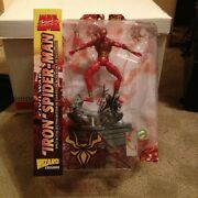 Signed By Stan Lee Marvel Select 2006 Iron Spiderman Civil War Wizard Excl.
