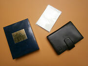 Swiss Caran Dand039ache Black Leather Case Notebook Writing Pad Pencil Pocket Book