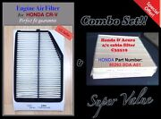 Premium Quality Engine And Cabin Air Filter For 2015-16 Honda Crv Cr-v And C35519