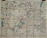 Antique Maps, A New Map Of The Environs Of London, G W Bacon, C. 1889