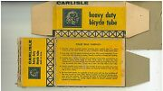 1960s Carlisle Heavy Duty Bicycle Tube Box For Bicycle Tires