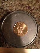 2011 James Garfield 20th President 1881 Gold Plated Coin