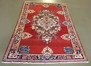 Floral Hand Made Mahal Persian Oriental Rug 4and0392 X 6and0398