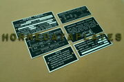 Dodge Wc51 Wc52 3/4 Ton Weapon Carrier Data Plates Id Tags Wc-51 Wc-52