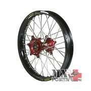 Ruota Completa Honda Cr 125 R 2002-2007 Haan Wheels 185 - 19and039and039 Mozzo Rosso/cerc