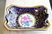 Antique Formalities By Baum Bros Cobalt Blue Collection China Rectangular Plate