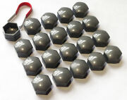 20 X 19mm Alloy Wheel Hex Nut/bolt Caps Covers + Tool Grey For Renault Cars
