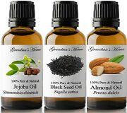 100 Pure And Natural Organic Cold Pressed Carrier Oils - 30 Ml To 1 Gallon Size