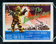 The Invisible Boy Cinemasterpieces Movie Poster 1957 Robby Robot Sci Fi