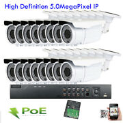 16ch 5mp Nvr Onvif Ip Ip66 2.8-12mm Lens Outdoor 72ir Poe Security Camera System