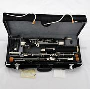 Professional Black Full Size Bassoon C Tone 2 Bocals Silver Key New With Case