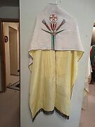 Catholic Vintage French Altar Vestment Dalmatic Humeral Cope And Stole Of Christ