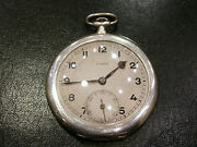 Antique Old Rare 84 Pocket Watch Silver 0.875 Two Covers - Eterna - Working