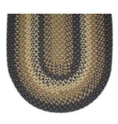 Navy Blue Basket Weave Braided Area Rug And Runner Many Sizes Available