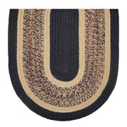 Black And Camel Tweed Braided Area Rugs By Colonial Rug Co--many Sizes 482ex