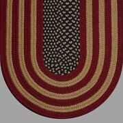 Antique American Flag Country Braided Area Rugs By Colonial Rug-many Sizes