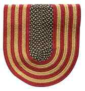 Rustic American Flag Braided Area Rug And Runner Many Sizes Available