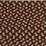 Green Red Beige Country Braided Area Rug And Runner Many Sizes Available