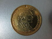 Huge Coin Year 1905 Austrian Emperor Franc Yos Gold-plated Gilded - Excellent