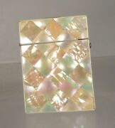 Antique Victorian Mother Of Pearl And Abalone Calling Card Case As Is