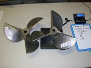 Set Of 15x21 Rh And Lh Cleaver Stainless Steel 15 Spline Propellers Like New