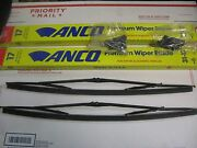 Vintage 80and039s 90and039s Anco 31-17 Black Steel Frame Wiper Blades Nos Pair