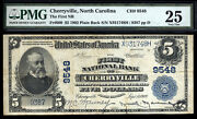 5 1902 Pb The First National Bank Of Cherryville North Carolina Desirable Note