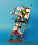 Knight Crusader 12-13 Century Tin Toy Soldiers, Metal 54mm, Hand Painted