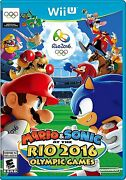 New Mario And And Sonic At The Rio 2016 Olympic Games Nintendo Wii U, 2016