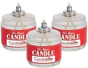 115 Hour Plus Emergency Candles Long Burning Survival Candles - Set Of 3