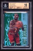 2012-13 Kyrie Irving Select Hot Rookies Prizms Green 31 Bgs 10 Pristine Rc 1/15